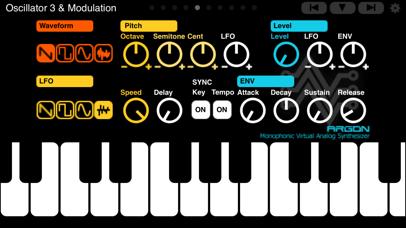 Screenshot #1 pour ARGON Synthesizer