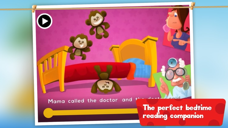 5 Little Monkeys Jumping On The Bed: TopIQ Story Book For Children in Preschool to Kindergarten HD