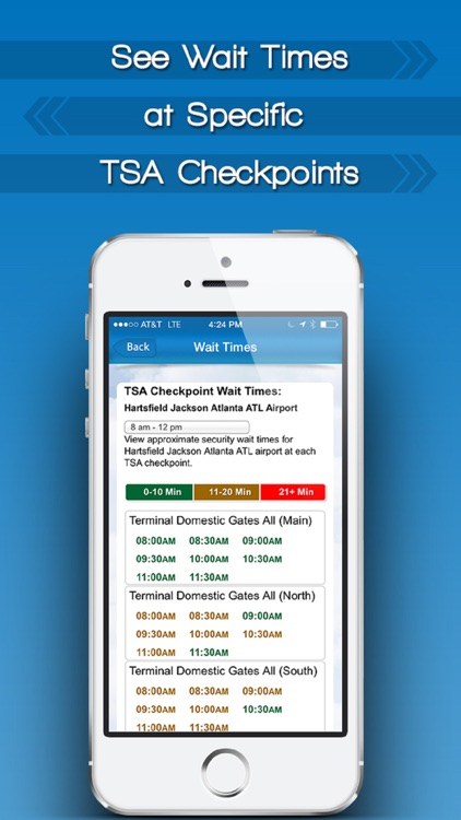 TSA Wait Times by iFly screenshot-1
