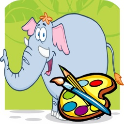 Elephant Coloring book for Kid - Fun color & paint on drawing game for boys & girls