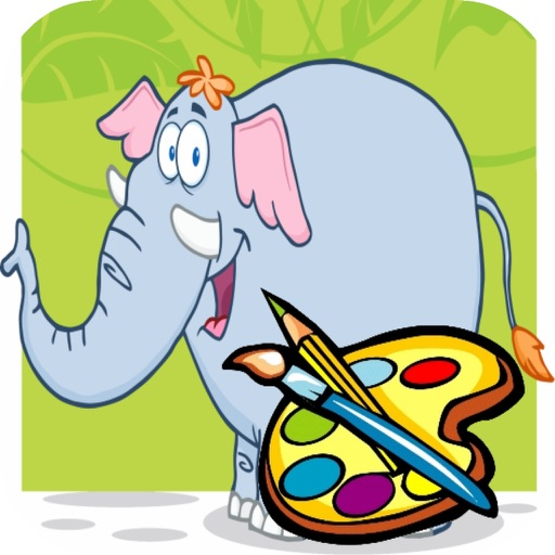 Elephant Coloring book for Kid - Fun color & paint on drawing game for boys & girls iOS App
