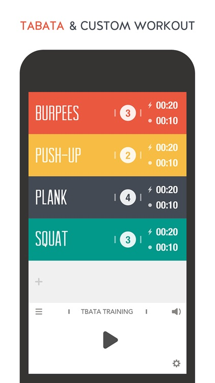 TABATACH - Interval Workout Timer for High Intensity Interval Training (HIIT) : TABATA & any Circuit Training screenshot-0