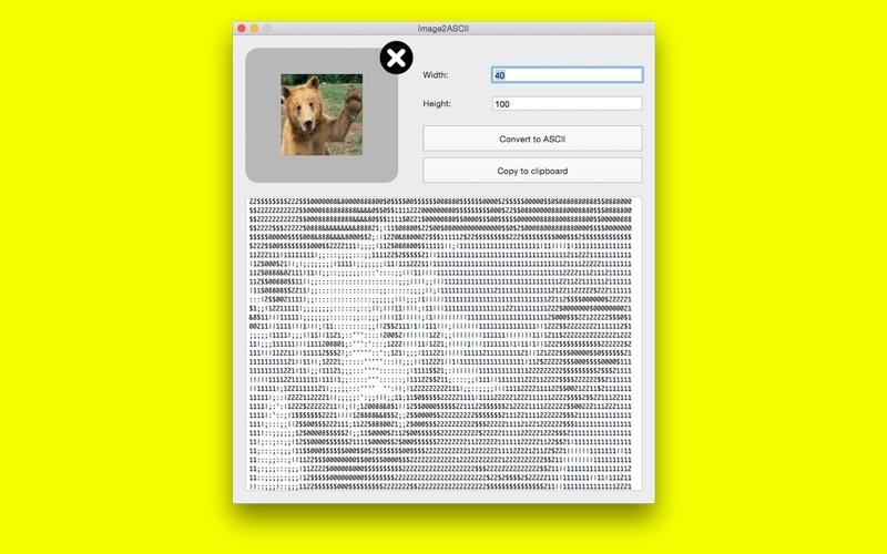 Image2ASCII for Mac