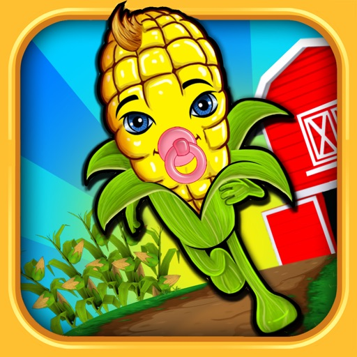 ``Baby Corn Run 3D Farm Race - Real Vegetable Endless Runner Dash Racing Free by Top Crazy Games icon