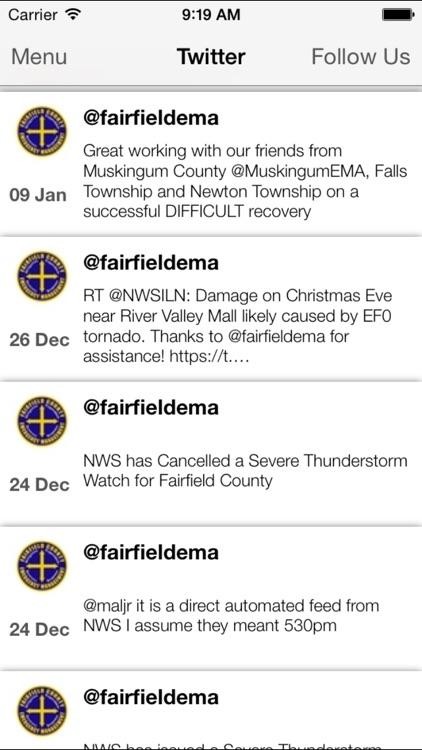 Fairfield County EMA, Ohio screenshot-3