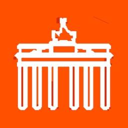 Berlin travel guide. Orange Arrow.