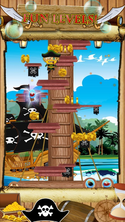 Awesome Pirate Jump Crazy Adventure Game by Super Jumping Games FREE screenshot-3