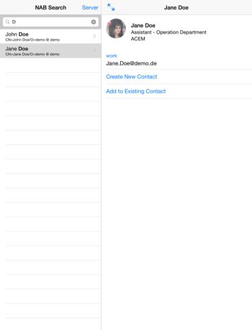 Screenshot of NAB Search Lite