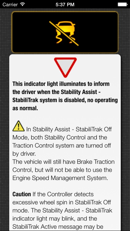 App for Cadillac with Cadillac Warning Lights & Road Assistance screenshot-4