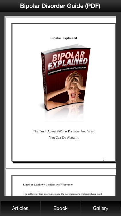 Bipolar Disorder Guide - Explaining The Truth About BiPolar Disorder screenshot-3