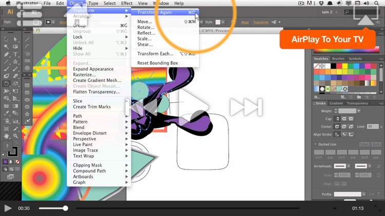 AV for Illustrator CS6 - Illustrator Basics - Create A Logo screenshot-3