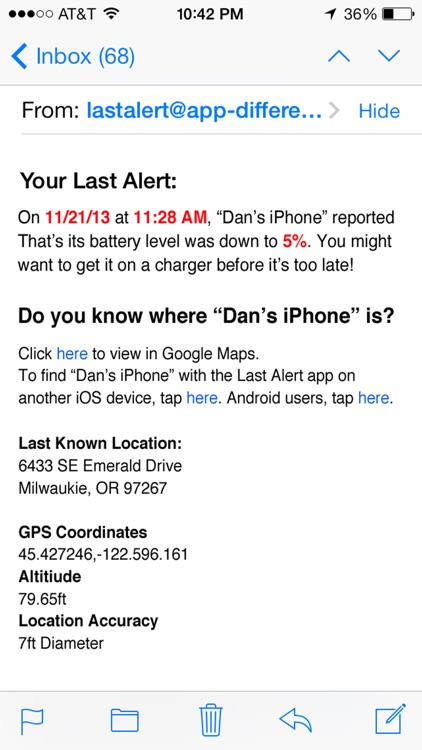 Last Alert Lite - Find My Lost Phone