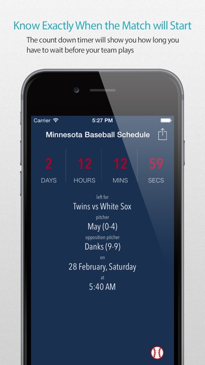 Minnesota Baseball Schedule Pro — News, live commentary, standings and more for your team!