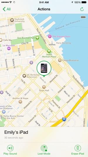 hitta appar och data iphone