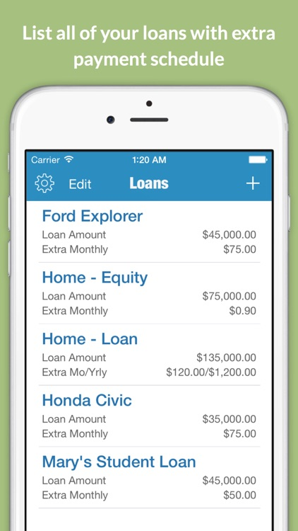 Loantune What If Loan Calculator screenshot-3