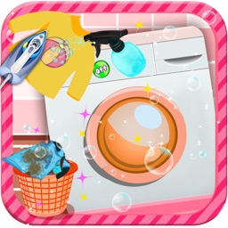 Kids Washing Cleanup - Cleaning, laundry and clothes wash game