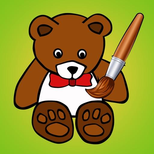 Активный! Книжка-раскраска Игрушек Для Детей: Игрушки, Мальчик, Ракеты, Плюшевый Медведь, Автомобиль, Самолет