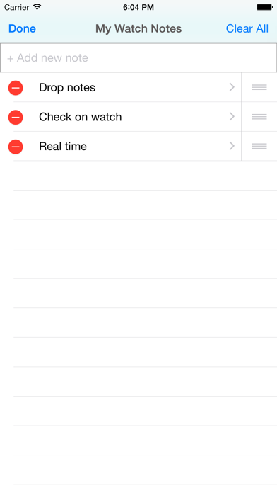 Quick Notes for iPhone & Watch screenshot two
