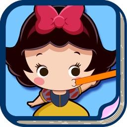 白雪公主 吹气球 儿童游戏