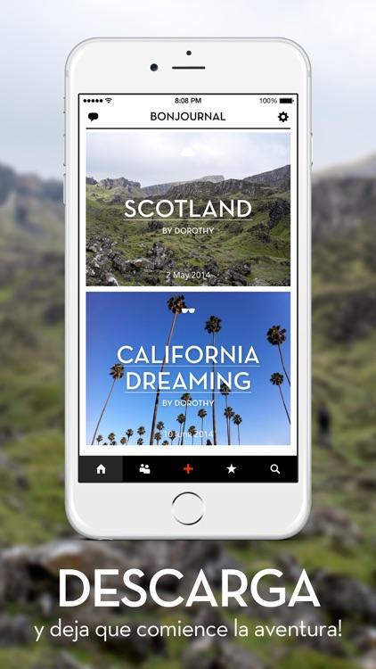 Bonjournal - A minimalist travel journal/diary screenshot-4