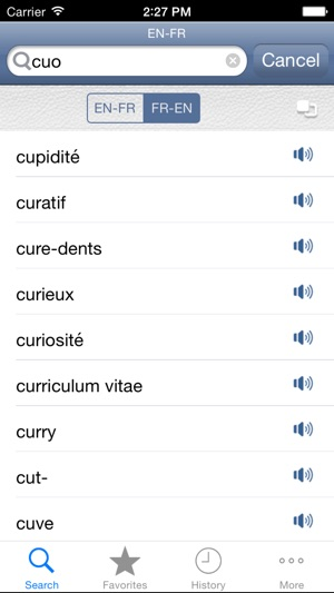 French English Dictionary On The App Store