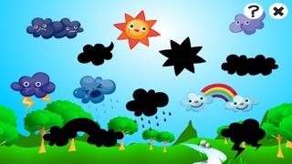 アクティブ! 子どもたちは、太陽、雨、雲と天気について学ぶためのゲームのスクリーンショット5