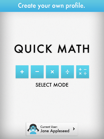 Quick Math - Multiplication Table & Arithmetic Game screenshot