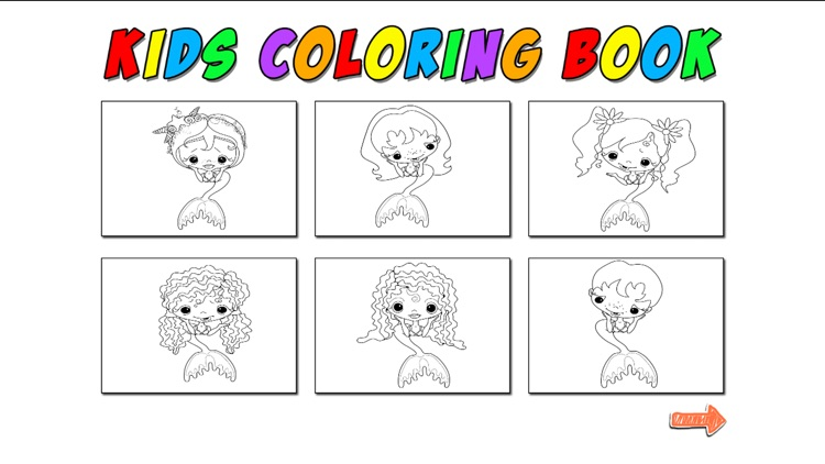 Kids Coloring Mermaid screenshot-1