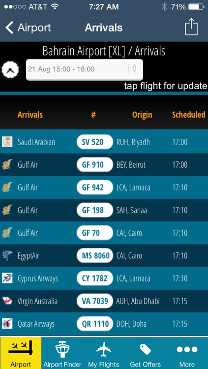 Bahrain Airport - Flight Tracker Premium Gulf Air screenshot-2