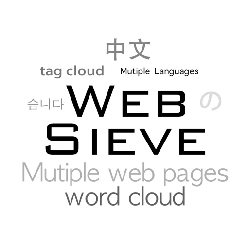 Web Sieve - create word cloud based on web pages