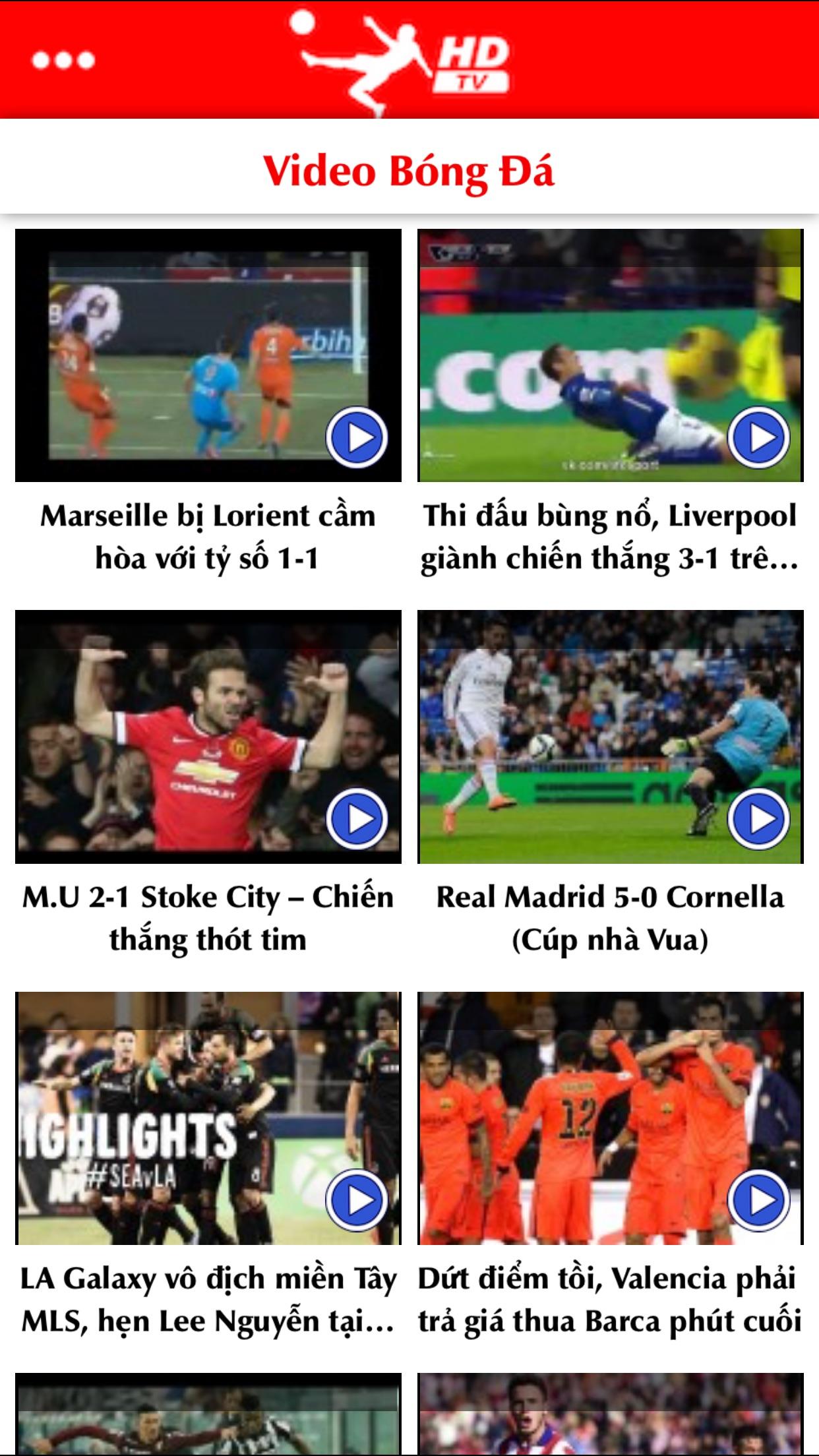 Bóng Đá TV - Xem trực tiếp và đọc tin tức bóng đá Screenshot