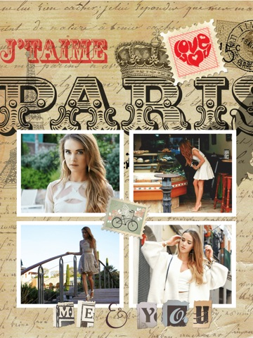 Paris Cam - The Chic arty love Foto Collage Kamera for a beautiful scrapbook selfies pic in France-ipad-4