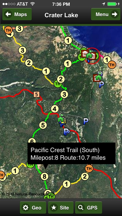 Crater Lake Trail Map Offline screenshot-4