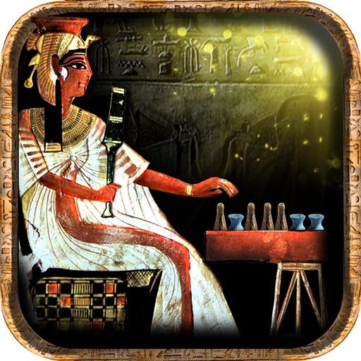 Египетскии Сенет (игра Древнего Египета) Анубис приглашает вас играть за фараон Тутанхамон (король Тут) или царицу Нефертити в могила