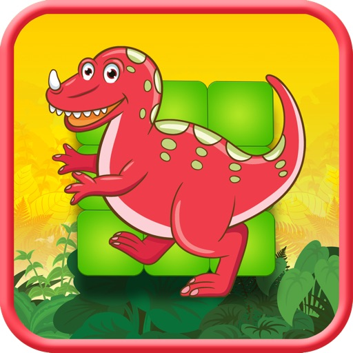 Jurassic Dino-Saur Hunter Flow Free - Puzzle Game icon