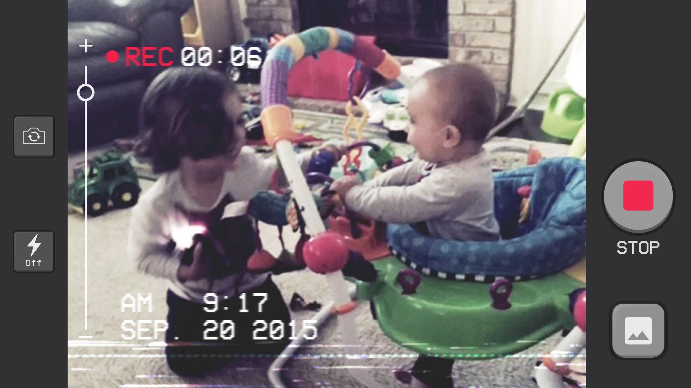 Screenshot do app Camcorder - Grave Vídeos Caseiros em VHS