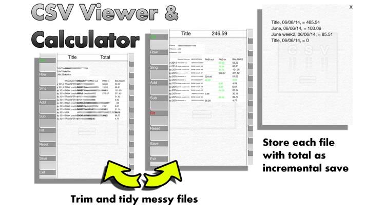 CSV Viewer & Calculator