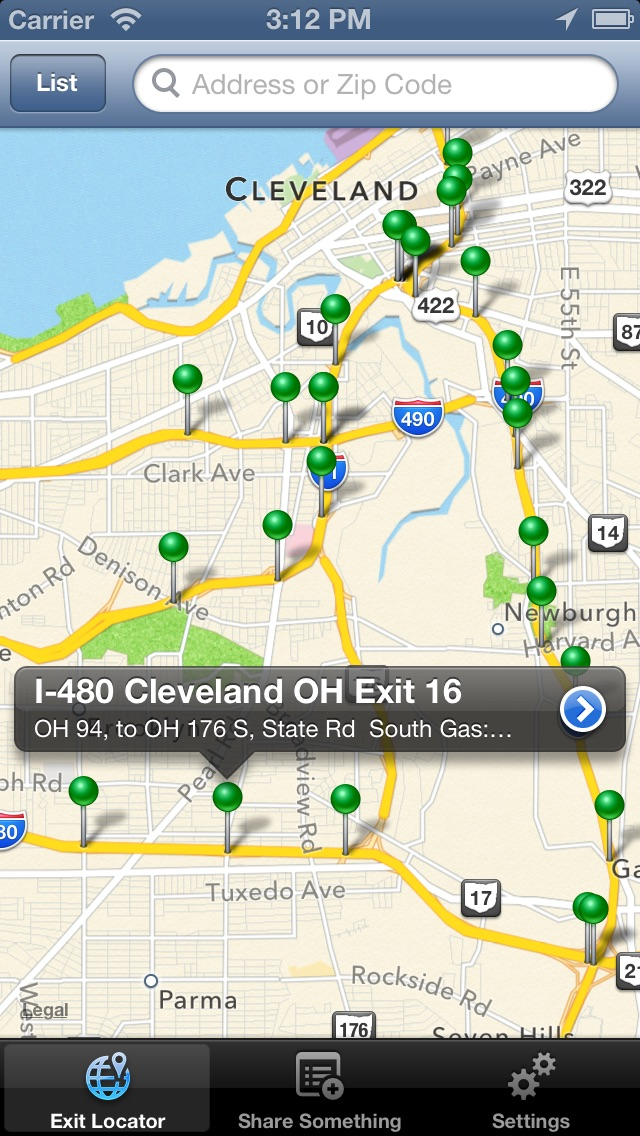Interstate Exit Food, Gas & Lodge - FREE | App Price Drops on southern river id map, counties of alabama map, idaho road map, cleveland ohio airport map, twin falls idaho map, cleveland municipal airport map, louisiana texas map, graysville alabama street map, ladd-peebles stadium map,