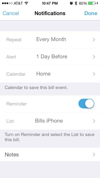 Bills Check