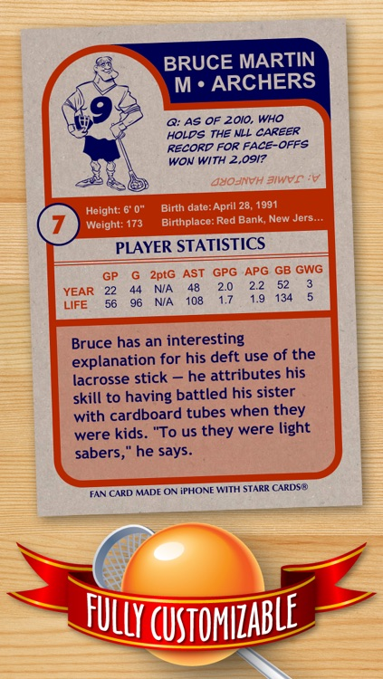 Lacrosse Card Maker - Make Your Own Custom Lacrosse Cards with Starr Cards
