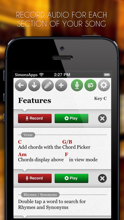 SongWriter Lite - Write lyrics and record melody ideas on the go