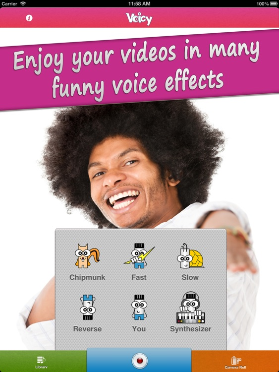 Voicy Video Booth HD Lite - Funny Chipmunk ( Helium ) Camera Voice Changer