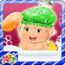 Newborn Baby Bath - Cute mommy love, care and dress up game of baby girl & baby boy