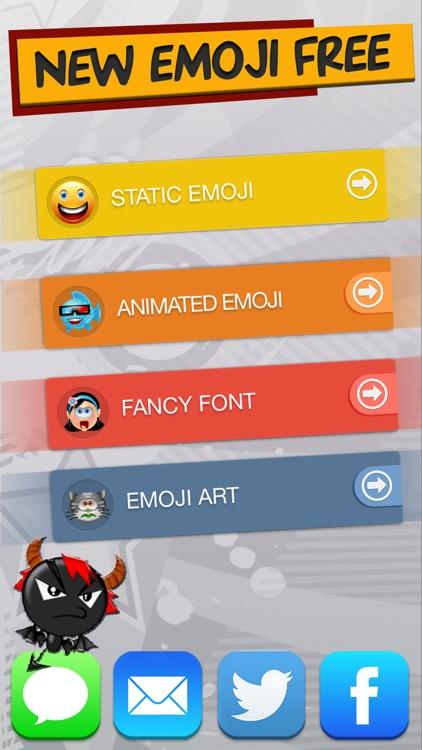 New Emoji Free - Animated Emojis Icons, Fonts and Cartoons - Emoticons Keyboard Art
