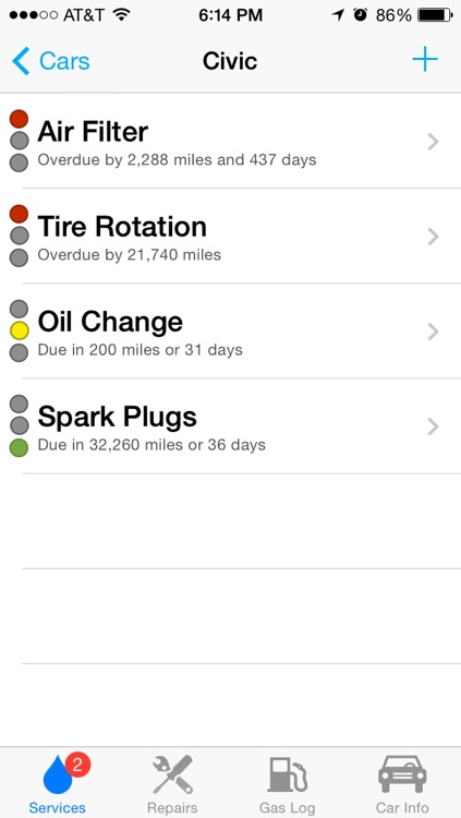 Car Minder Plus - Car Maintenance and Gas Log (MPG) screenshot-1