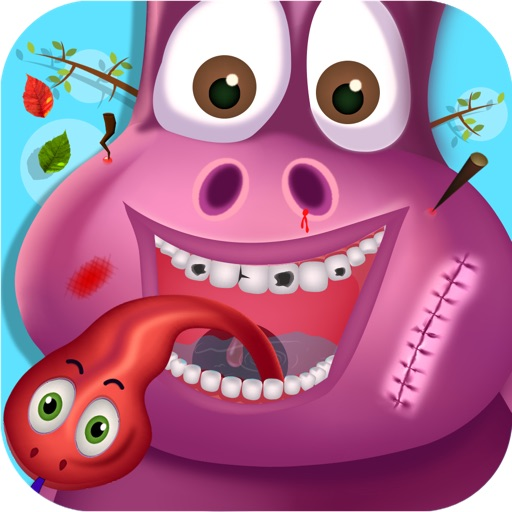 Animal Tongue Doctor Cleaner, Dentist Fun Pack Game For kids, Family, Boy And Girls