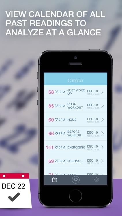 Heart Rate BPM Monitor - Portable Cardiograph and Pulse Monitoring screenshot-3