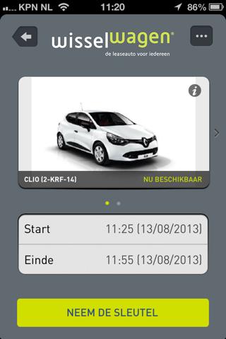 Wisselwagen screenshot 2