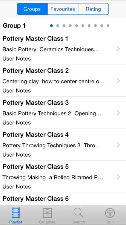 Pottery Master Class
