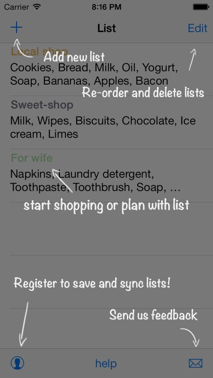 List free - shopping, grocery, sync screenshot-4